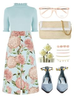 """""""FLORAL"""" by nikitaku ❤ liked on Polyvore featuring Oasis, Warehouse, Fabrizio Viti, Chloé, Buti and Charlotte Russe"""
