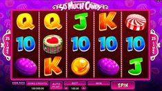 So much candy is video slot from Microgaming, with 5 reels with 25 paylines, and with the sweetest theme, you've ever seen in video slots.  There is a Wild symbol, which drops instead of regular icons  and Scatter symbols, which can trigger up to 16 free spins.