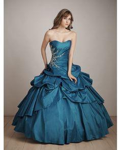 BallGown Sweetheart Taffeta Floor-length Quinceanera Dress at sweetquinceaneradress.com