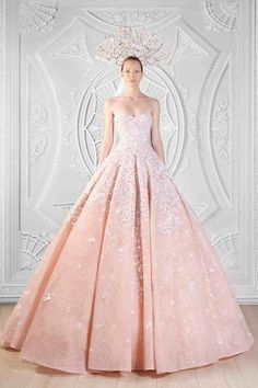 Pale pink strapless gown....alldbeautifulthings: Rami Kadi