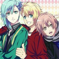 Ai (left), Syo (middle), and Ringo (right)? all from Uta no Prince-sama