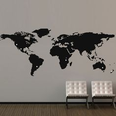 Black wall map of the world big wall hanging map living room office large world map wall sticker giant map wall decor gumiabroncs Images