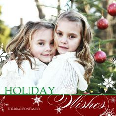 Mixbook Snowflake Wishes Christmas Cards