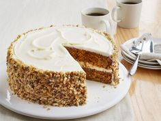 Carrot Cake with Ginger Cream Cheese Frosting Recipe : Food Network Kitchen : Food Network - FoodNetwork.com