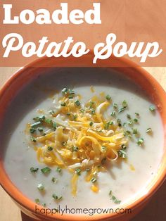 Nothing screams comfort food on a winter's day more than soup.  Try this quick and easy loaded potato soup the next time you want to warm up.