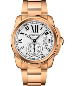 Calibre de Cartier Gold Stainless Steel Mens Watch W7100018