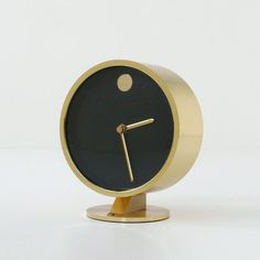 Nathan George Horwitt; Brass and Glass 'Museum' Clock for Howard Miller, 1950s.