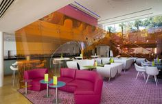 Semiramis hotel by Karim Rashid Athens.  curvaceous forms and lollipop colours to offer a young, enthusiastic and seductive alternative to more traditional conceptions of hospitality