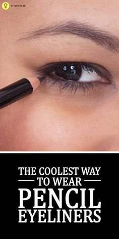 Here are a few simple steps that will help you to properly wear the eyeliner using an eye liner pencil Neutral Eyeshadow, Shimmer Eyeshadow, Cream Eyeshadow, Eyeshadow Palette, Eyeshadows, Brown Eyeshadow, Pencil Eyeliner Tutorial, Eyeliner Pencil, Winged Eyeliner