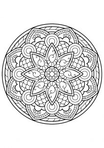 mandala from free coloring book for adults 4