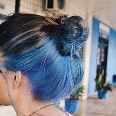underlights hair Pretty and Attractive Blue Hair Style * Page 11 of Hair Color Streaks, Hair Dye Colors, Hair Color Blue, Cool Hair Color, Peekaboo Hair Colors, Blue Colors, Blue Hair Highlights, Blue Streak In Hair, Hair Color Ideas