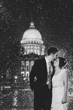 madison winter wedding photography