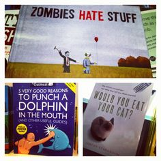 Just a few of the funny book titles I saw today
