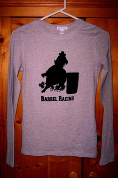 Barrel Racing Shirt Screen Printed  Cowgirl Horse by TeesAndMore, $25.00