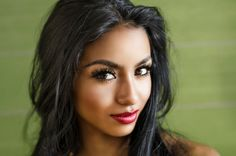 That look, those lips, those eyes and hair...... - Portrait of beautiful young woman