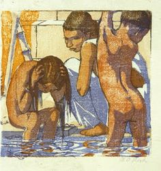 Mabel Royds - Children bathing