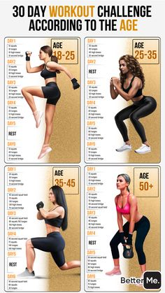 Fitness Workouts, 20 Day Workouts, 30 Day Fitness, Gym Workout For Beginners, Fitness Workout For Women, Butt Workout, Workout Videos, Month Workout Challenge, Weight Loss Workout Plan