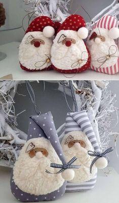 Preparing for Christmas: Make and Gift Lucky Gnomes Gold Christmas Decorations, Felt Christmas Ornaments, Easy Christmas Crafts, Christmas Gnome, Handmade Christmas, Christmas Sewing Projects, 242, Theme Noel, Diy Natal