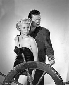 """Orson Welles and Rita Hayworth """"The Lady from Shanghai"""" 1947"""