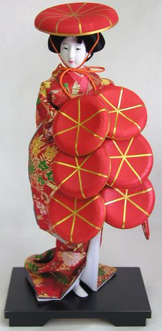Japanese doll in red