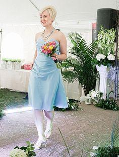 Soft blue bridesmaid gown - fashion show