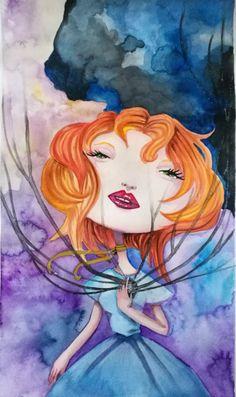 #watercolor #sweet and #creepy