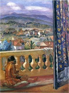Henri Lebasque - Blue Mountains in Cannes. Henri Lebasque was a French post-impressionist painter. He was born at Champigné. His work is represented in French museums, notably Angers, Geneva, Lille, Nantes, and Paris.
