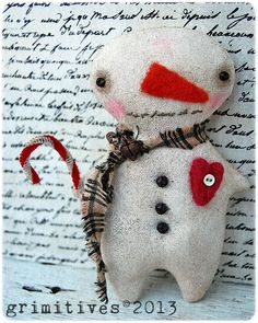 CYBER MONDAY 25 off Primitive Christmas Ornament by GRIMITIVES