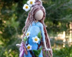 Needle felted Waldorf inspired doll with by Made4uByMagic on Etsy