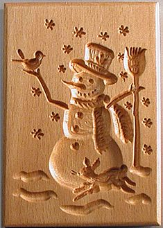 Wooden Springerle Boards - original carvings with old-world designs by Gene Wilson