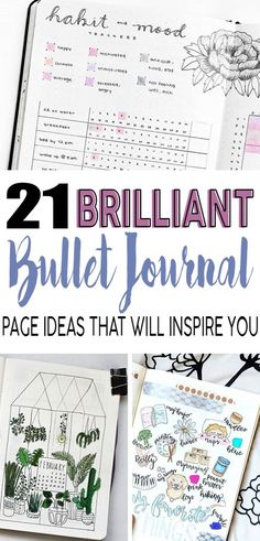 Look at these bullet journal ideas! They will definitely help me stay organized through out the year. #bulletjournal #bujo #planner