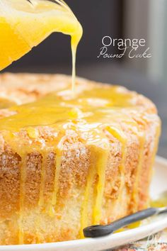 Scratch-made Orange Zest Pound Cake with Orange Curd - buttery and soft with a light citrus flavor. The Orange Curd is luscious, sweet, slightly tart, and adds just enough zing to the cake. This recipe combo is dessert heaven. Desserts To Make, Köstliche Desserts, Delicious Desserts, Dessert Recipes, Health Desserts, Plated Desserts, Cupcakes, Cupcake Cakes, Bundt Cakes