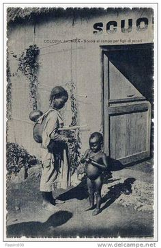 """School for children of #Ascari troops  """"ERITREA - SCUOLA PER FIGLI DEGLI ASCARI - 1935"""""""