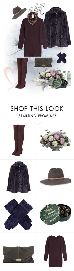 """Knee boots"" by murenochek ❤ liked on Polyvore featuring Topshop, Allstate Floral, Oliver Jung, rag & bone, Dents, Charbonnel et Walker, Valentino, Bellagio and Burberry"