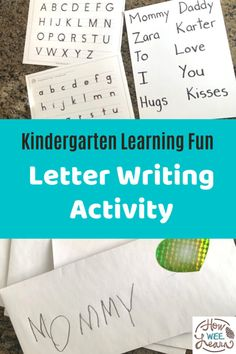 My little one had so much fun with this letter writing activity for kindergarten. Creating letters for people he loved was also an excellent quiet time activity. Kindergarten Writing Activities, Educational Activities For Preschoolers, Quiet Time Activities, Alphabet Activities, Learning Goals, Learning To Write, Learning Letters, Fun Learning, Teaching Kids