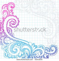 Stock Images similar to ID 90486949 - frames and borders hand drawn...