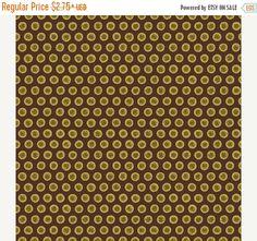 FALL SALE Yellow Brown Circle Fabric Jo Morton Elizabethtown Brown Circles 5540 G