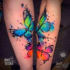 Butterfly Tattoos For Women, Butterfly Tattoo Designs, Butterfly Wings, Butterfly Colors, Colorful Butterfly Tattoo, Butterfly Tattoo Cover Up, Home Tattoo, Tattoo Life, City Tattoo