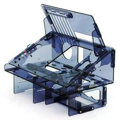 Dragon Transparent Black Acrylic Tilted & Reversible Test Bench Case