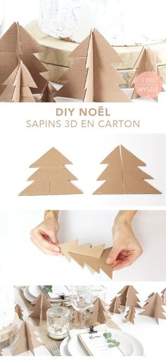 DIY XMAS: Decorate your table whitout spending a money! CHRISTMAS DIY: Decorate your table without spending money Christmas Time, Christmas Crafts, Christmas Decorations, Diy For Kids, Crafts For Kids, Deco Table Noel, Natal Diy, Diy Crafts To Do, Navidad Diy