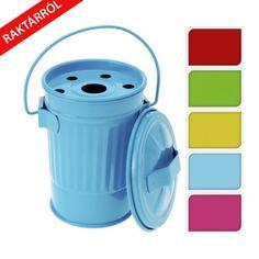 Bin fényes fém vödör alakú hamutál több színben. Kiválóan kombinálható a többi cukorka színű kiegészítőkkel ( párna, felfújhatós puff) Design