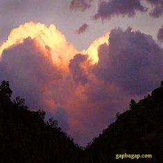 Nice Picture Of Heart Shaped Clouds For Valentine's Day