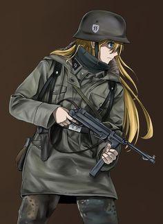Pretty Anime Girl, Cool Anime Girl, Anime Art Girl, Anime Military, Military Girl, Cute Anime Character, Character Art, Anime Demon, Manga Anime