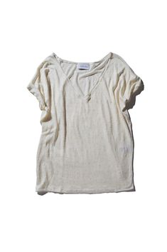 Linen Jersey Off White Spot Basic Tee