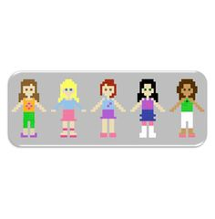 LEGO Friends patterns for HAMA, Perler, or Nabbi beads - or cross stitch.