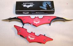 red Batman knife