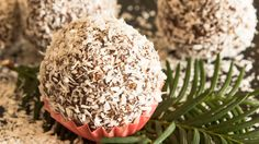 Schokolade-Kugeln mit Kokosraspeln  #chocolate #kokos #ball #sogood #sweetness #sweet #coco #butter #sugar #christmas #vanilla #yummy #lidlösterreich