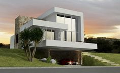 What to build: 5 trends in the modern architecture world Modern Architecture House, Modern Buildings, Architecture Design, Minimalist House Design, Modern House Design, Building Design, Building A House, Appartement Design, Villa Design