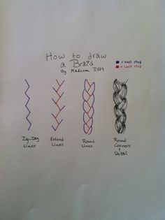 How to draw a braid