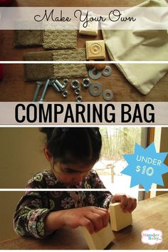 "Are you looking for ways for your blind child or student to experience tactual exploration in a safe, confined space? Then let me show you how to make your own ""Comparing Bag"" to explore various textures and shapes for under $10!"